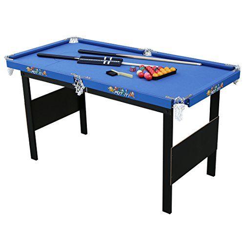 HLC,Table de Billard Snooker Pool avec Accessoires Bleu Accessoires  complets 2 x