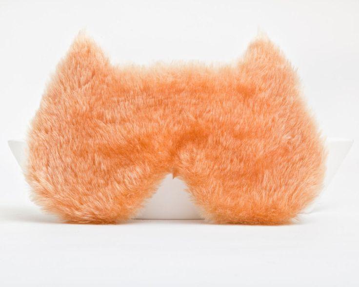 slaapmasker, slaap maskers, maskeren, kat, oranje van JuliaWine op DaWanda.com