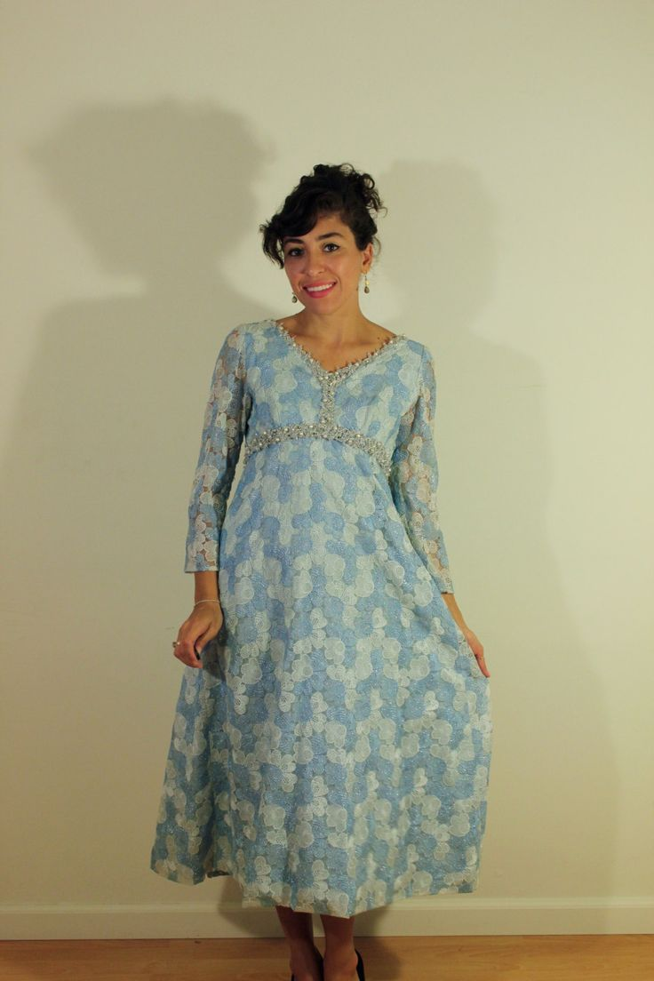 Blue Sparkle 1950s Party Dress by VintageRevival818 on Etsy
