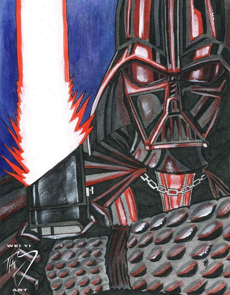 Darth Vader   Water colour 11x14