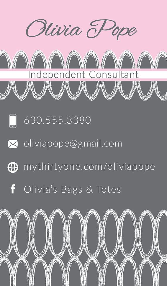 Thirty-One Consultant Business Cards Charcoal by JNBStrategies