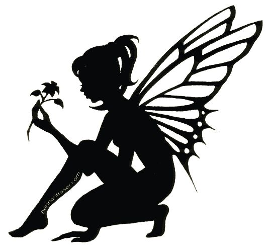 silhouette photo: Silhouette Fairy 4 SilhouetteFairy4.gif