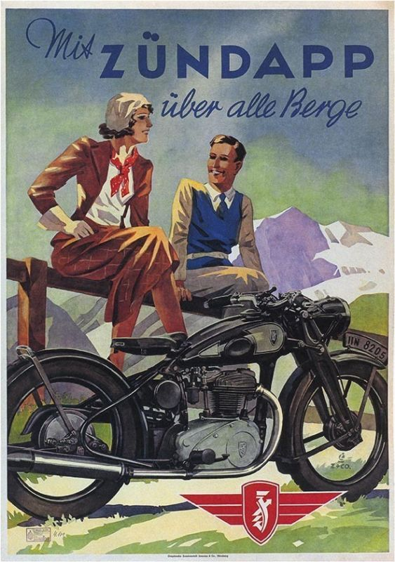 1938 Zundapp German Motorcycle