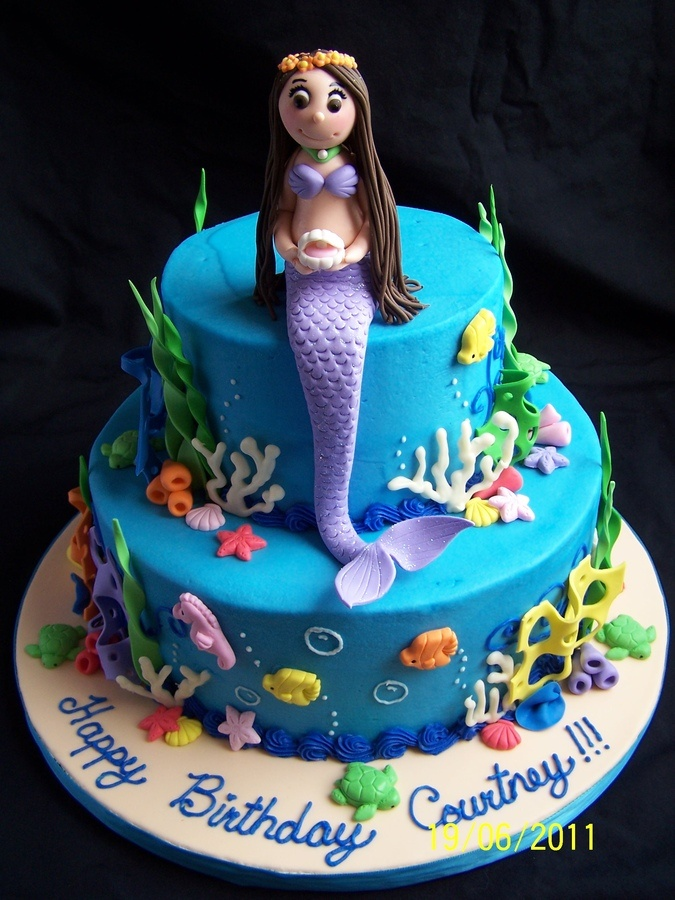 Mermaid cake.  My birthday is in August, if anyone wants to make this for me.