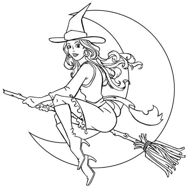 Best Witch Moon Coloring Picture Witch Coloring Pages Halloween Coloring Halloween Coloring Sheets