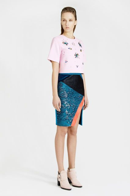 Unique Going Out Looks - Cocktail Party Outfits To Try |     Photo of Banu Ibrahim     Sep 18, 2014 | Three Floor Pioneer Skirt, $237.26; Three Floor Ornate Top, $160.50.
