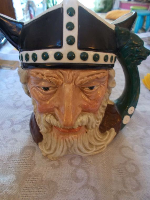 New reduced price. Large Character Jug1958 Royal by mademeathens http://www.thevintagevillage.com/classifieds/224/2217/large-character-jug-1958-royal-doulton-viking