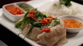 My Kitchen Rules, Ashlee and Sophia: Hainan chicken with three sauces