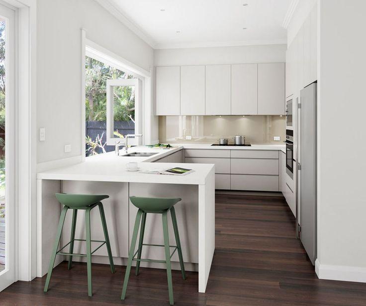 best 20 small modern kitchens ideas on pinterest modern u shaped kitchens white contemporary kitchen and contemporary small kitchens - Small Modern Kitchen Design Ideas