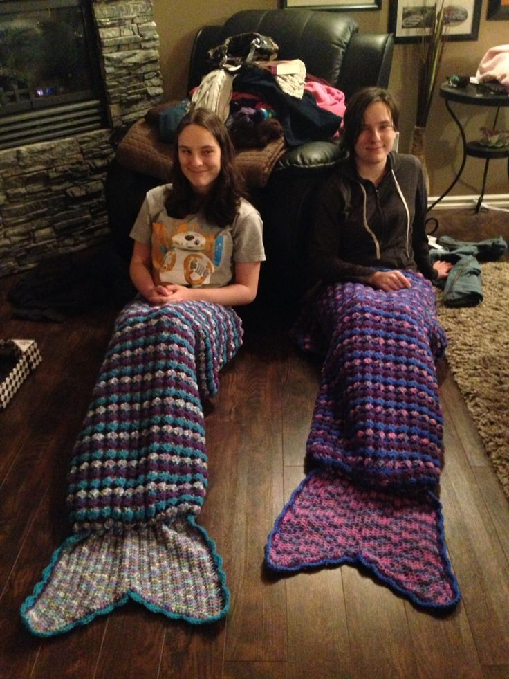 Mermaid blankets for my nieces