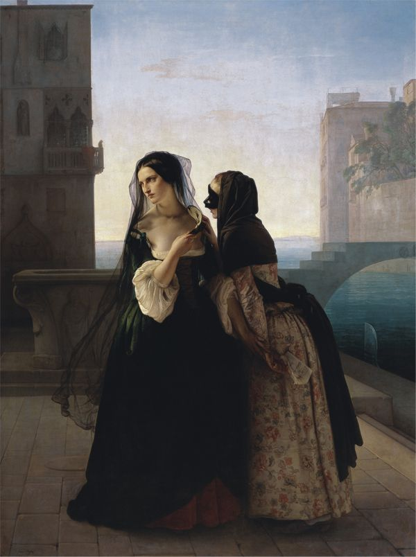 Vengeance is Sworn  Francesco Hayez, 1851  (italian airtist born in Murano, Venice)