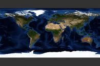 September, Blue Marble Next Generation w/ Topography and Bathymetry