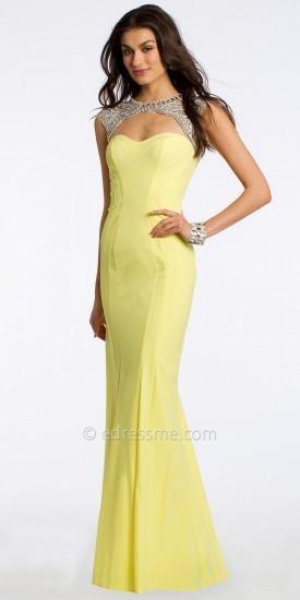 Keyhole Beaded Prom Dress by Camille La Vie   #dress #dresses #fashion #designer #camillelavie #edressme