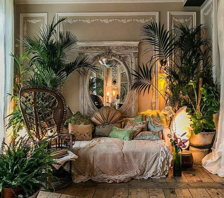 реальные картинки спальни растения бубен