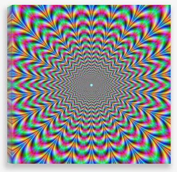 Canvas Wall Art – Psychedelic Zig Zag Ring