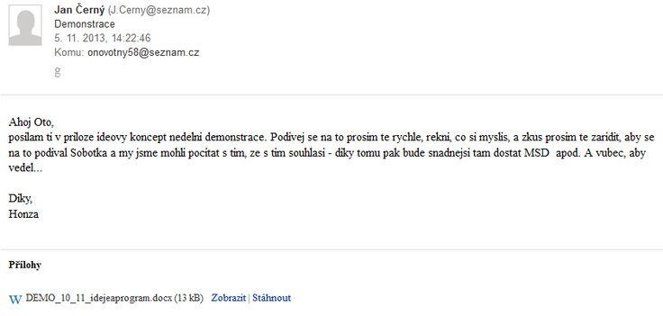 Hacknutý email Oto Novotný - komentáře