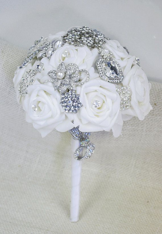 Hey, I found this really awesome Etsy listing at https://www.etsy.com/listing/157368390/spectacular-silk-brooch-wedding-bouquet
