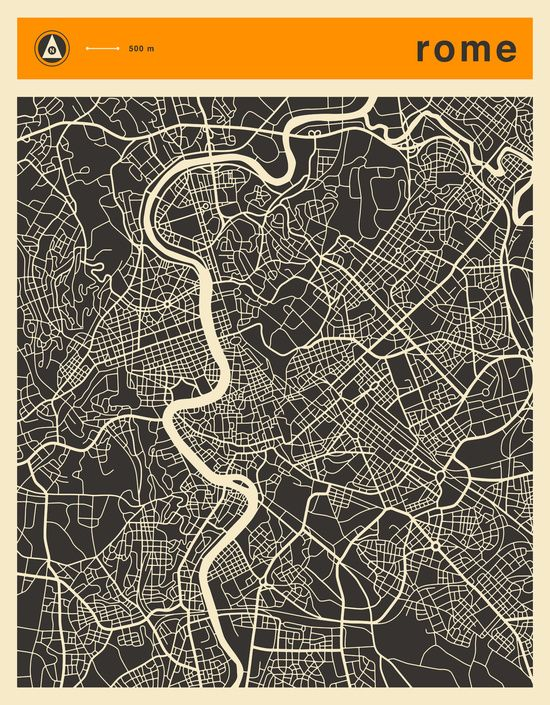 Poster | ROME MAP von Jazzberry Blue | more posters at http://moreposter.de