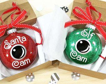 Santa Camera Ornament, Christmas Ornament, Elf on a Shelf Camera, Personalized Christmas Ornament, Holiday Traditions, Santa Cam Ornament