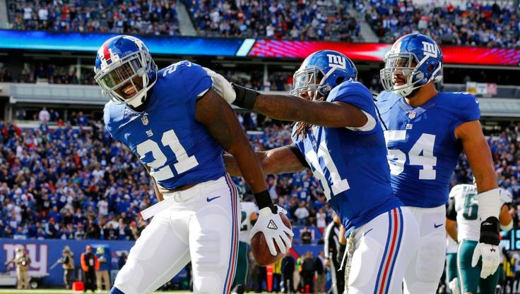 Eagles vs. Giants: 28-23, Giants - November 6, 2016 - Landon Collins of the New York Giants celebrates an interception early in the first quarter against the Philadelphia Eagles at MetLife Stadium on Sunday, Nov. 6, 2016 in East Rutherford, N.J.