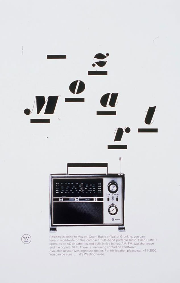 Advertising | Paul Rand, American Modernist (1914-1996). LIke this layout and use of text