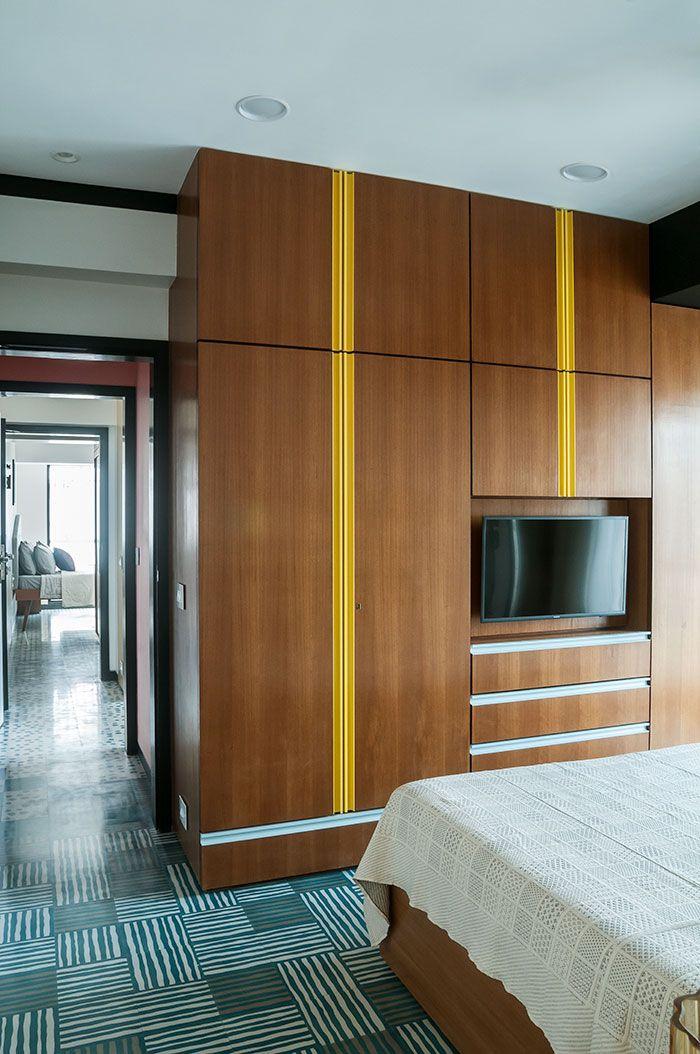 Muselab Tiles An Apartment In Mumbai With 21st Century Art Deco Sophistication Apartment Interior Art Deco Bedroom Furniture Small Apartment Interior