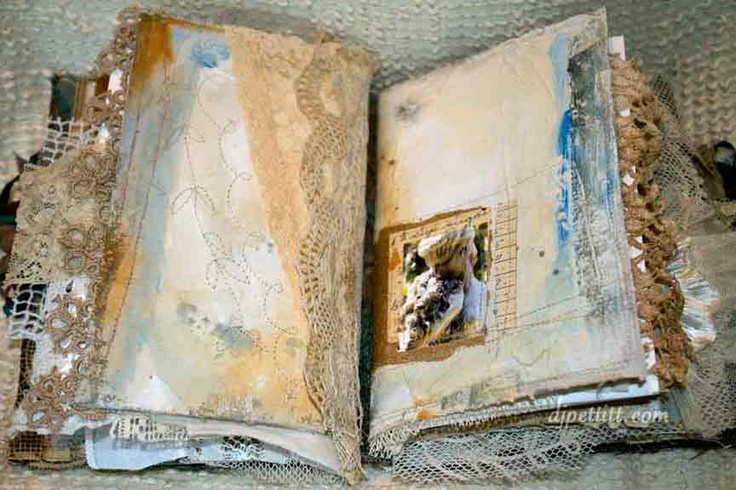 Mixed media books and journals .