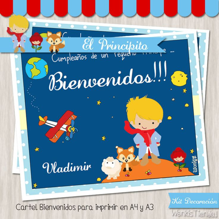 El Principito  -  Kit Decoracion Fiesta Imprimible