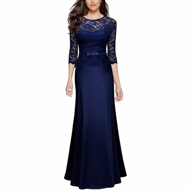 Cheap maxi dress, Buy Quality dress floor directly from China party maxi dress Suppliers: Women's Retro Floral Lace Slim Peplum Long Evening Sexy Dress Elegant Party Maxi Dress Floor Length Dresses Robe Vestidos
