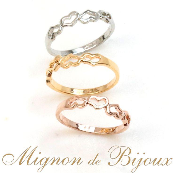 リング 指輪 レディース 激安 300円 アクセサリー ファランジリング ミディリング 関節リングハートピンキーリング[Mignon de Bijoux][ミニョンドゥビジュー]【楽天市場】