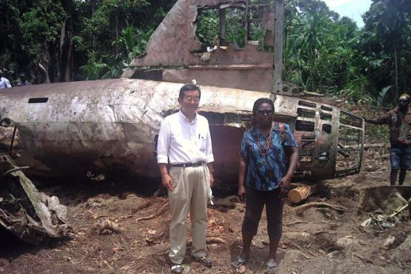 WWII Crash open for Tourist in Bougainville