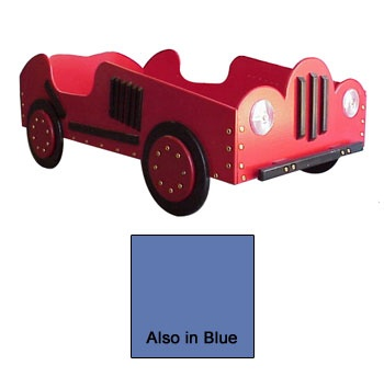 Old Style - Race Car Toddler Bed in Red or Blue