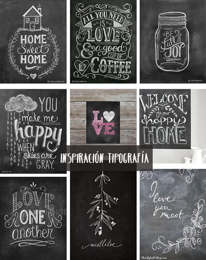Inspiración para llenar de mensajes bonitos las paredes de nuestra casa. ¡Nos encanta! Por @bonitismos #deco #pizarra #decoracion