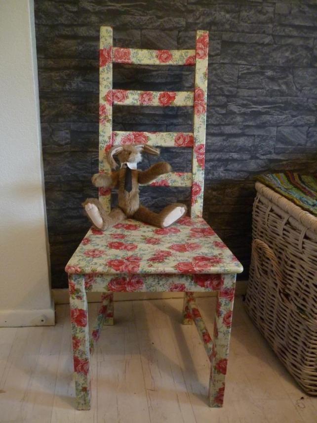 Decoupage chair in Cath Kidston rose pattern £80.00