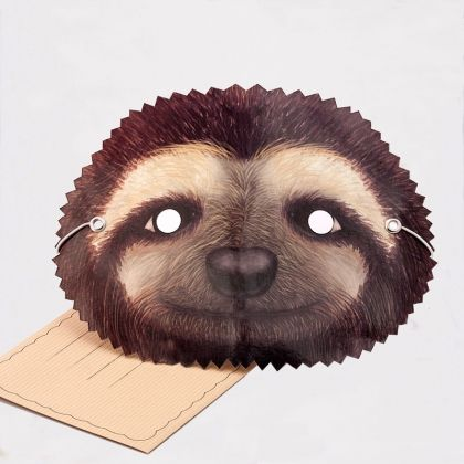 Greeting card with a double use! A wearable SLOTH card. Comes with envelope and space to write your message  http://tmod.com.au/product/sloth-mask