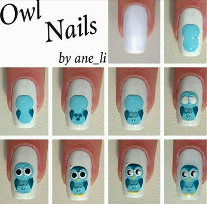 54 best nail art step by step images on pinterest nail scissors nice 10 easy step by step owl nail art tutorials for beginners 2014 pepino top nail art design pepino nail art prinsesfo Gallery