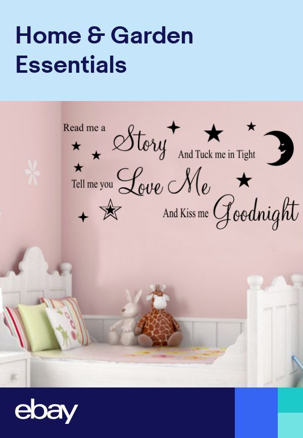 Nursery Rhyme Wall Art Sticker Boys