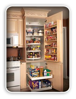 Small pantry tall carousel pantry cabinet featuring rool for Carousel for kitchen cabinets
