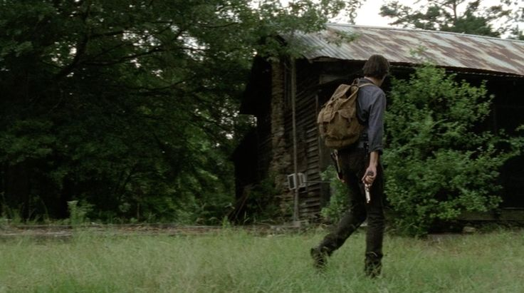 "The Governor, Martinez, Pete, and Mitch Find A Cabin | TWD S4E7 ""Dead Weight"": The Governor, Martinez, Pete, and Mitch are walking through the woods looking for an old cabin which may have supplies. They find the cabin after following a trail of beheaded bodies......Seavy St. and GA-85 Senoia, GA"