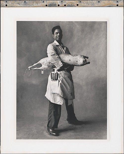 Slaughterhouse Worker, New York, Irving Penn, 1951 - Platinum-palladium print