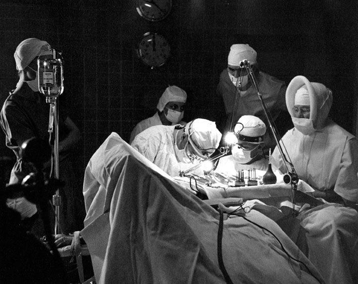 Surgery, Providence Hospital, Anchorage, Alaska, ca. 1958   by Providence Archives, Seattle
