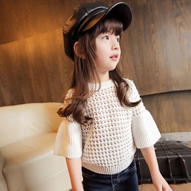 GL4002B  2016/17 AW Trendy Girl's Fashion 3/4 Princess sleeves Sweater