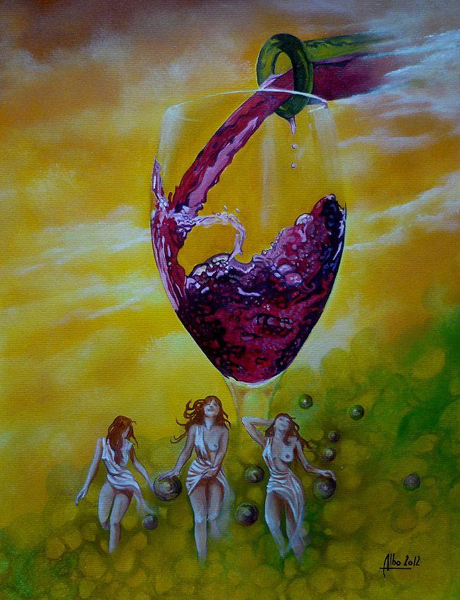 """"""" nectar céleste """" huile sur papier https://www.facebook.com/albo.arts"""