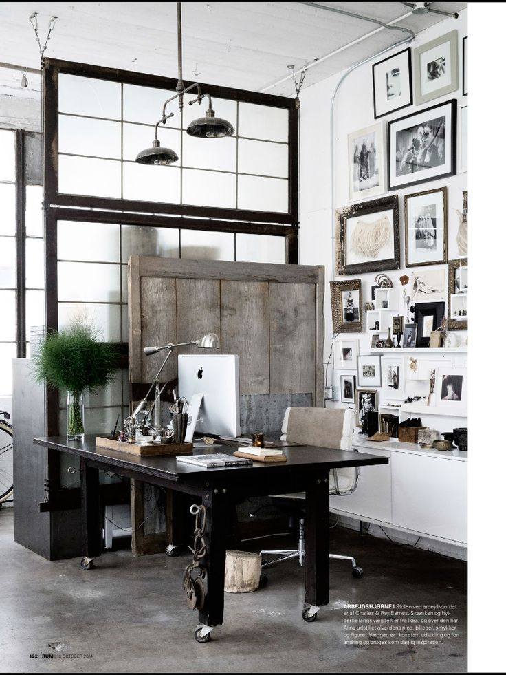gallery wall - simple black and white frames, combined with ornate wood frames