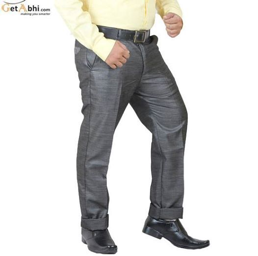http://tinyurl.com/zg3jcfz Grey Color Party Wear Cotton Blends Trouser from the shelter of ray's. Waistband With Belt Loops, has a zip fly, hook and bar with a button tab on the front. Flaunt a plain shirt with these regular-fit trousers for a smart look.