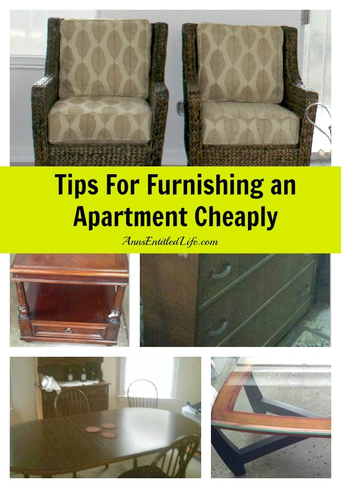 Tips For Furnishing an Apartment Cheaply - how to get good, quality  furnishing for less
