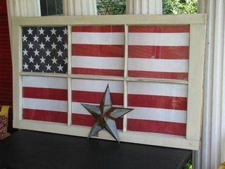 I love the flag behind the old window. I have the window!