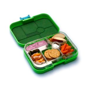 Genius, leakproof, compartmentalized toddler lunch box from Yumbox.  Just ordered for TotScoop's newest preschooler!