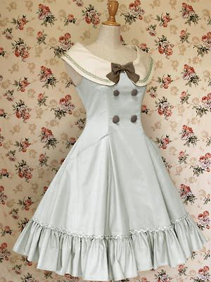 Pale Blue Mary Magdalene Lolita Dress