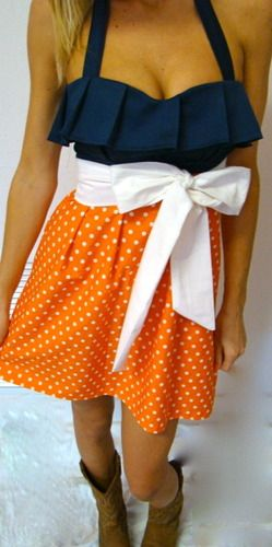 this is super cute!: Football Games Attire, White Bows, Games Day Dresses, War Eagles, Cute Dresses, Colors, Garnet And Gold, Games Day Outfits, Gameday Dresses